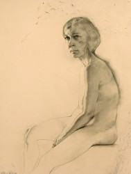 Seated Figure, Side View by Stanley Phillips