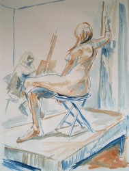 Seated Model in Studioby Kevin Kuhne