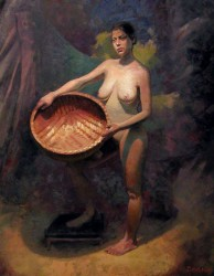 Woman With Basket by Jim Schanz
